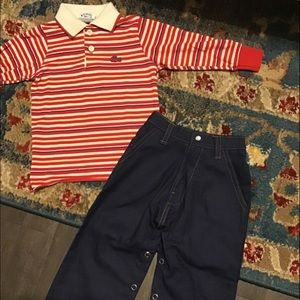 Vintage western jeans isle polo top 12m